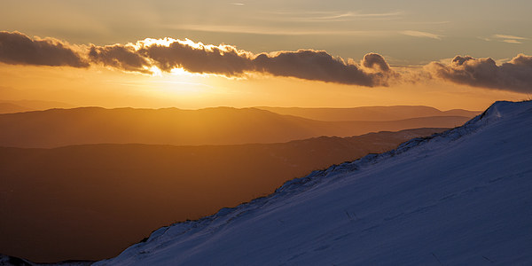 Mountain Sunset Canvas print by James Buckle