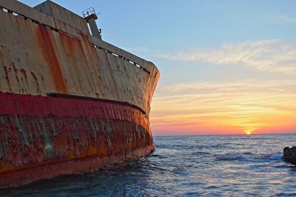 Shipwreck Sunset Canvas print by James Buckle