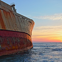 Buy canvas prints of Shipwreck Sunset by James Buckle