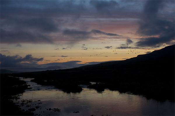 Iceland River Sunset Canvas print by James Buckle