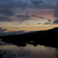Buy canvas prints of Iceland River Sunset by James Buckle