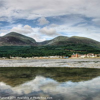 Buy canvas prints of Newcastle beach, County Down by David McFarland