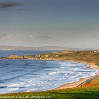 Buy canvas prints of Whitepark Bay, County Antrim by David McFarland