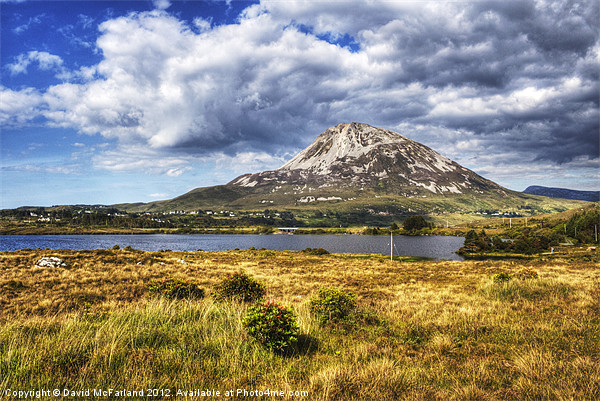 Errigal, Pride of Donegal Canvas print by David McFarland