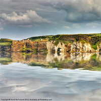 Buy canvas prints of Dunluce Castle reflections by David McFarland