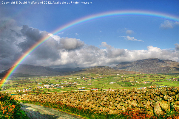 Mourne Rainbow Country Canvas print by David McFarland