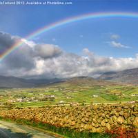 Buy canvas prints of Mourne Rainbow Country by David McFarland