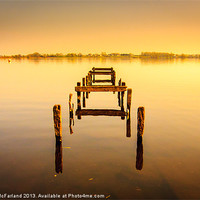 Buy canvas prints of Old jetty, Oxford Island by David McFarland