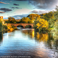 Buy canvas prints of Evening light on the Margy River by David McFarland