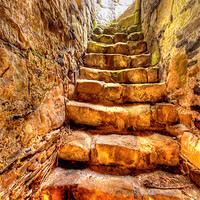 Buy canvas prints of The Black Nun Staircase by David McFarland