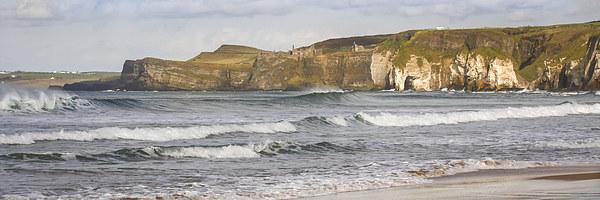 Waves at White Rocks, Portrush (2) Canvas print by David McFarland