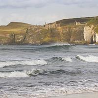 Buy canvas prints of Waves at White Rocks, Portrush (2) by David McFarland