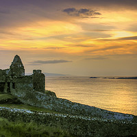 Buy canvas prints of Sundown at the Dunluce Castle by David McFarland