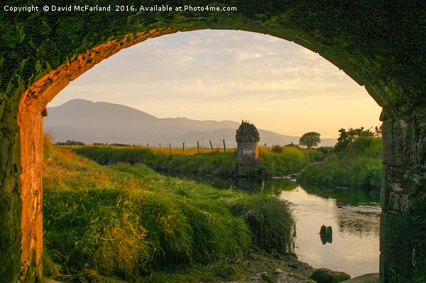 Evening at the Twelve Arches Canvas print by David McFarland