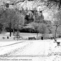 Buy canvas prints of Lurgan Park in the snow by David McFarland