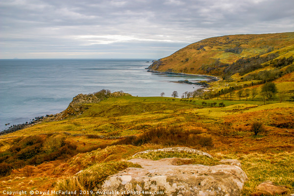 Murlough Bay Antrim Canvas print by David McFarland