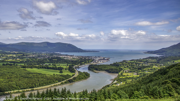 Warrenpoint on Carlingford Lough Canvas Print by David McFarland