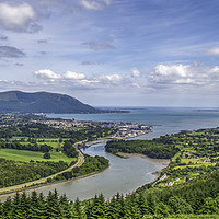 Buy canvas prints of Warrenpoint on Carlingford Lough by David McFarland