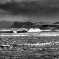 Buy canvas prints of Winter storm over Ballycastle by David McFarland