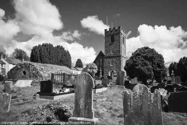 The graveyard at Dromore Cathedral Canvas Print by David McFarland