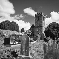 Buy canvas prints of The graveyard at Dromore Cathedral by David McFarland