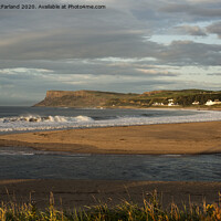 Buy canvas prints of Evening falls over Ballycastle bay by David McFarland