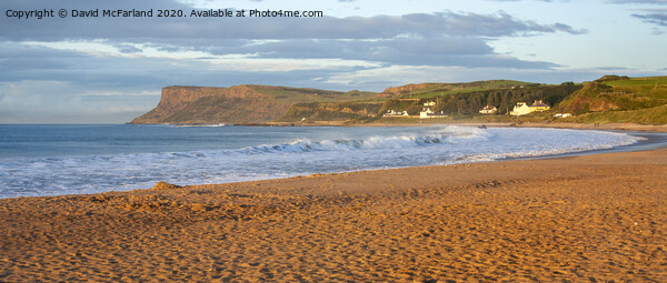 Ballycastle panorama Canvas Print by David McFarland