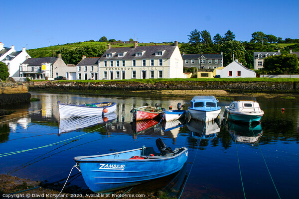Cushendun harbour Canvas Print by David McFarland