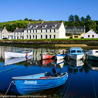 Buy canvas prints of Cushendun harbour by David McFarland