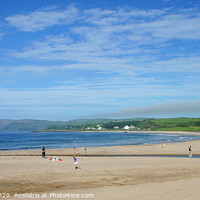 Buy canvas prints of Summer on the beach at Ballycastle by David McFarland