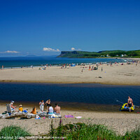 Buy canvas prints of Bathing on the Margy River at Ballycastle by David McFarland