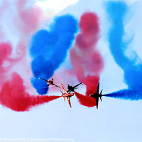 Buy canvas prints of Red Arrows over Portrush by David McFarland