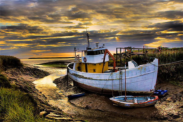 south ferriby boat Canvas print by Martin Parkinson