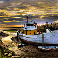 Buy canvas prints of south ferriby boat by Martin Parkinson
