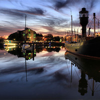 Buy canvas prints of Hull Marina at Dusk by Martin Parkinson