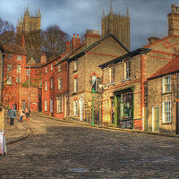 Buy canvas prints of Steep Street Lincoln 2013 by Martin Parkinson