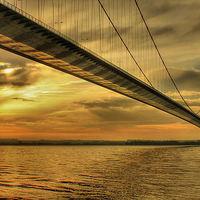 Buy canvas prints of Humber Bridge Dawn 2013 by Martin Parkinson
