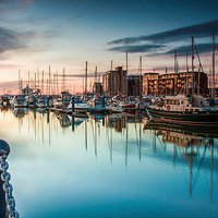 Buy canvas prints of Marina Morning 2014 by Martin Parkinson