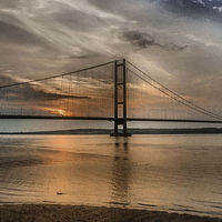 Buy canvas prints of  The Humber Bridge at Dusk  2015 by Martin Parkinson