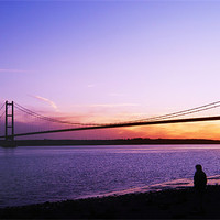 Buy canvas prints of humber bridge by Martin Parkinson