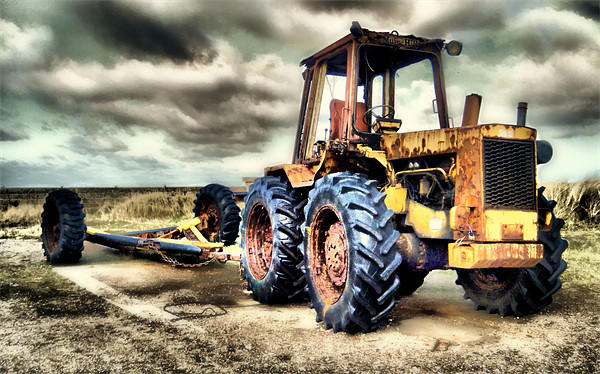 Tractor Canvas print by Martin Parkinson