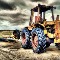 Buy canvas prints of Tractor by Martin Parkinson