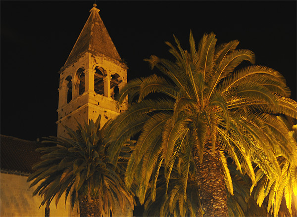 Trogir at night Framed Print by mirsad ibisevic
