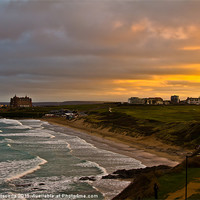 Buy canvas prints of Fistral Beach Newquay by Brian Roscorla
