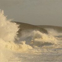 Buy canvas prints of Porthleven Storm, Cornwall by C.C Photography