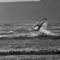 Buy canvas prints of Windsurfer, Marazion, Cornwall by C.C Photography