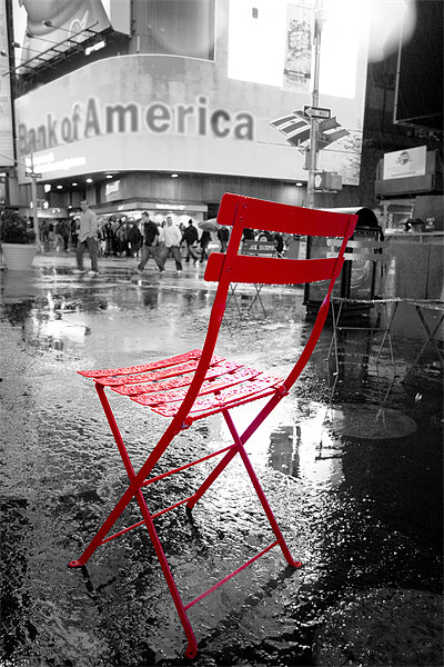 Red Chair Print by Andrew Pelvin
