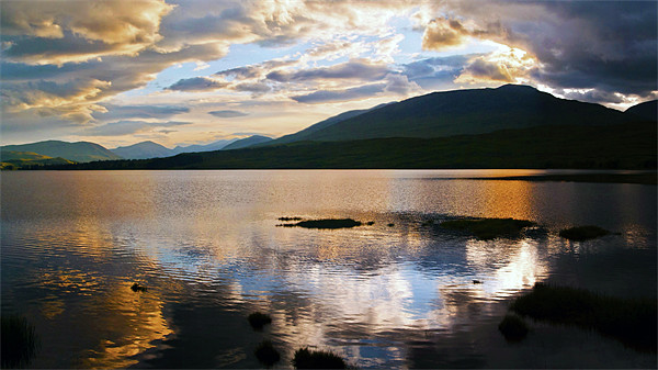 Loch Tulla At Sunset Canvas print by Finan Fine Art Prints