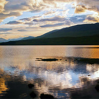 Buy canvas prints of Loch Tulla At Sunset by Finan Fine Art Prints