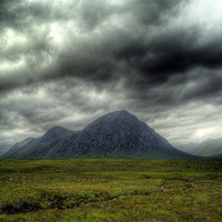 Buy canvas prints of Stormy Clouds Over Glen Coe by Finan Fine Art Prints